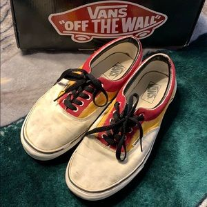 Vans Era White and custom painted size 11